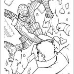 Spiderman de colorat